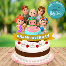 Where flour and sugar become art! Printable Cocomelon Birthday Cake Topper Template Diy Bobotemp