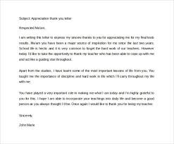 teacher appreciation letter from principal teacher thank you letter