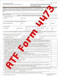 gun background check form.  Form ATF Form 4473  Purchasing A Firearm On Gun Background Check M