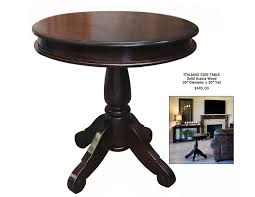 elegant small dark wood side table impressive round accent
