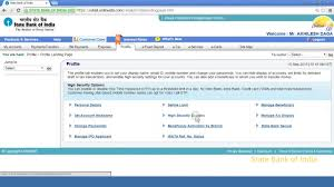 sbi inb how to set high security password otp using