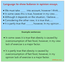 Example Of Opinion Essays Giving A Balanced Opinion In Ielts Opinion Essays