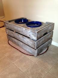 dog bowls on stand raised bowl uk white pallet wood projects 0