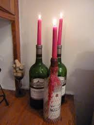 Wine Bottle Candle Holder Crafts