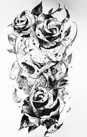 Skull And Roses Tatoos татуировки с черепом эскиз тату и крутые