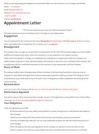 Letterhead For Employment 60 Samples Of Appointment Letter Format In Pdf And Word