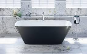 Aquatica Arabella-Blck-Wht™ Freestanding Solid Surface Bathtub