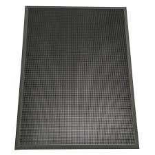 Rubber-Cal Door Scraper Commercial Doormats Black Outdoor Rubber ...