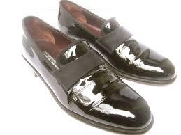 salvatore ferragamo men s black patent leather dress shoes for at 1stdibs