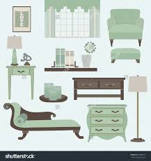 Teal Accessories For Living Room Living Room Furniture Accessories Color Teal Stock Vector