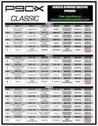 p90x lean workout schedule calendar p90x schedule