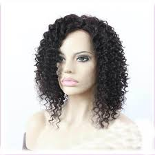 stylish curly lace front human hair wigs for african american 0