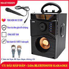 Loa Công Suất Lớn, Loa A300 Hozito Cao Cấp Version 2020 + TẶNG MIC HÁT, Loa  Hat Karaoke Bluetooth Cầm Tay - Loa Bluetooth