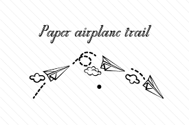 Paper plane png you can download 36 free paper plane png images. Paper Airplane Trail Svg Cut File By Creative Fabrica Crafts Creative Fabrica