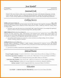 Lead Cook Resume Sample Resume Template