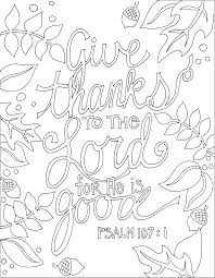 Ps 1071 And Many Other Printable Bible Verse Coloring Pages Adult