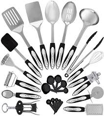 kitchen utensils images. Stainless Steel Kitchen Utensil Set - 25 Cooking Utensils Nonstick Cookware With Images A
