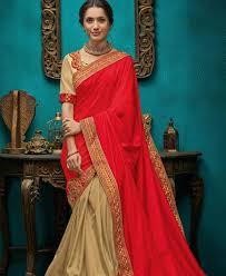 Stunning Designer Sarees Stunning Red Gold Designer Saree