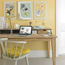 home office designs wooden. Yellow And White Country Home Office With Wooden Desk Chair Designs