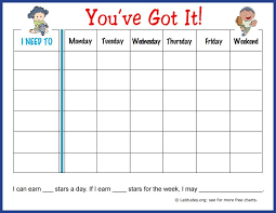 Free Weekly Behavior Chart Youve Got It Weekly Behavior