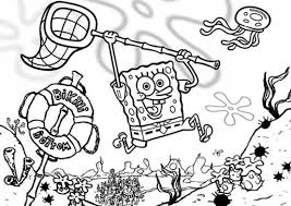 Small Picture Spongebob Coloring Pages Funny Moments with Patrick Gianfredanet