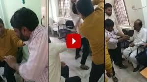 Aimim Mla Hits Man Video Goes Viral