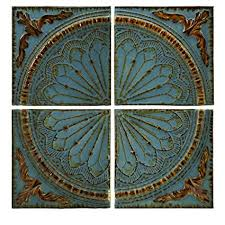 imax 12468 blue quarter medallion wall panels set of 4 on carved medallion wall art panels set of 4 with amazon imax 12468 blue quarter medallion wall panels set of 4