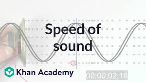 Time Vs Speed Of Light Speed Of Sound Video Waves And Sound Khan Academy