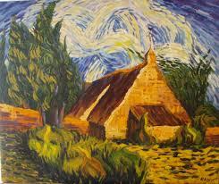 farm house van gogh style