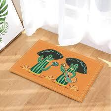 details about desert mexican natural cactus guitar flannel non slip floor doormat bath rugs