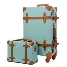 vintage luggage. find more information about fashion women travel suitcase pu leather vintage luggage set universal wheels trolley n