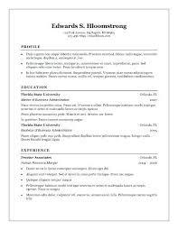 Resume Template For Microsoft Word  Okurgezer.co