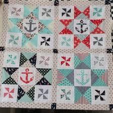 Nautical Alphabet Quilt ePattern | quilts island | Pinterest ... & Anchors and pinwheel Adamdwight.com