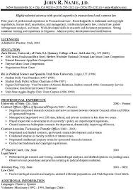 Law Resume Samples Attorney Sample Resumes Resume Samples District