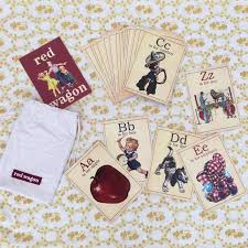 vintage abc alphabet flash cards with
