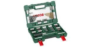 <b>V</b>-<b>Line</b> Drill- and Screwdriver Bit Set Titanium <b>91</b> pieces with ratchet ...