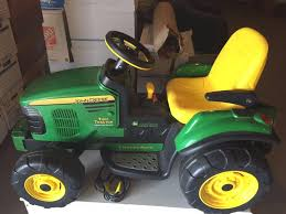 peg perego john deere turf tractor trailer battery powered riding toy