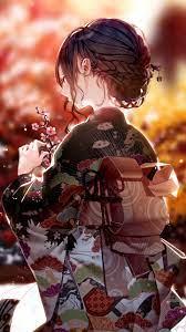 1440x2560 Kimono Dress Anime Girl 4k ...