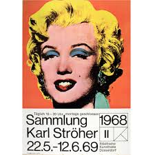 original vintage karl stroher exhibition poster marilyn monroe by andy warhol