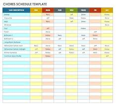 Weekly Chore List Template Week Rotation Cleaning Schedule Free Template Home Chores