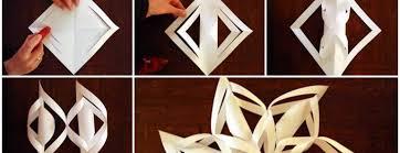 paper snowflakes 3d diy 3d paper snowflake ornaments beesdiy com