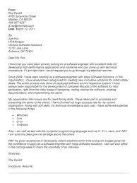 Sample Cover Letter For Senior Software Developer Professional