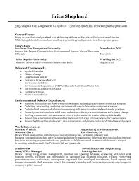 Entrylevel Environmental Scientist Resume Beauteous Science Resume