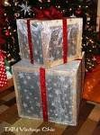 Outdoor christmas decorations lighted gifts