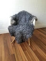 image 0 gray sheepskin rug costco soft curly