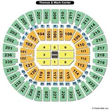 Lca Seating Chart Wwe 78 Unfolded Thomas And Mack Center Seating Chart Wwe
