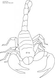 Small Picture scorpion coloring pages and several intriguing pictures Atelier