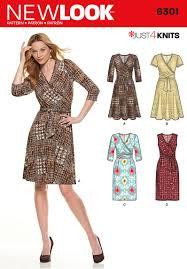 Knit Dress Pattern Magnificent New Look 48 Misses' Mock Wrap Knit Dress