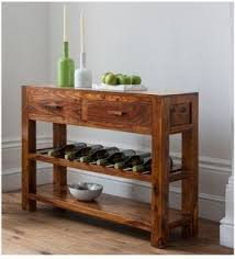 Sofa Table With Wine Storage Rack Console S In Models Design