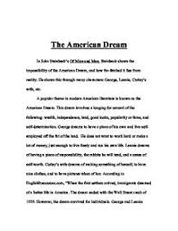 essay on the american dream co essay